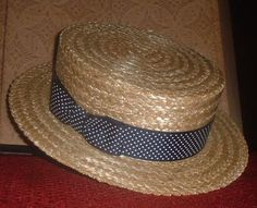 Skimmer hats (straw boater hats) were popular in the summer months Boater Hat, Summer Months, Panama Hat, Costumes, Popular, Hats, Clothing, Accessories, Berets