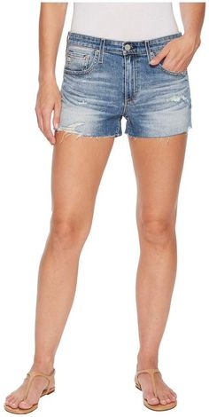 AG Adriano Goldschmied - Bryn in 16 Years Indigo Deluge Destructed Women's Shorts $168.00 http://shopstyle.it/l/wPqw