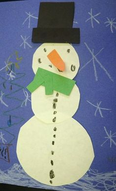 Let it Snow! by a kindergarten student.