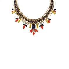 Troy Designs Juniors Multicolor Jeweled Necklace | from Von Maur #VonMaur #StatementNecklace #Gold #Colorful