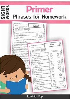 Sight Word Fluency This book contains a collection of Primer sight word sentence reading sheets intended to be used with children in Kindergarten (Prep) and Grade 1 as homework. Reading Homework, Reading Fluency, Reading Intervention, Teaching Reading, Word Reading, Teaching Tools, Teaching Resources, Sight Word Sentences, Dolch Sight Words