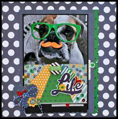 A Happy Life ~ A Charmed Life scrapbook layout
