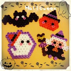 Halloween perler beads by hunnymickey                                                                                                                                                     More
