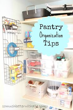 Pantry Organization www.somuchbetterwithage.com