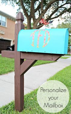 Personalize your mailbox