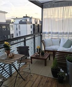 36 Awesome Small Balcony Garden Ideas - Balcony Garden 100 49 Genius small apartment decor for a lot of space - decor and architecture - . Small Balcony Decor, Outdoor Balcony, Balcony Ideas, Terrace Ideas, Patio Ideas, Condo Balcony, Balcony Shade, Balcony Plants, Potted Plants