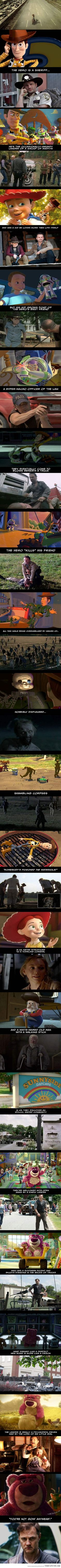 The Walking Dead vs Toy Story -- This is fantastic!