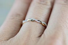 14k Rose Gold Round Cut Diamond Rope Twined Vine Engagement