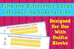 Find the Difference Cards – Introducing Subtraction
