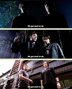 "[GIFSET] Parallels ""We've got work to do"" #Supernatural #Supernatural200th... This episode was practically perfect in every way."