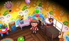 Animal Crossing: New Leaf Diary, Day 7: Prizes from the Bug-Off were the spider clock, butterfly wallpaper, and cicada stereo. I definitely want to get this whole series.