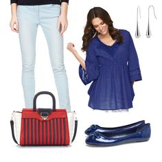 Don't know how to style a blue tunic?  Here's an idea.