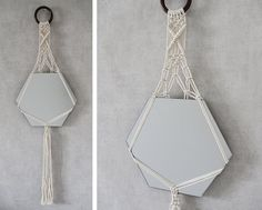 hanging macrame mirror! For sale on Etsy!