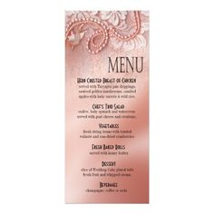 Green Pastures Country Wedding Menu  Wedding Menu And Country