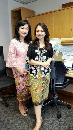 Kebaya for work Kebaya Lace, Kebaya Brokat, Batik Kebaya, Kebaya Dress, Batik Dress, Modern Kebaya, Indonesian Kebaya, Batik Fashion, Gorgeous Fabrics
