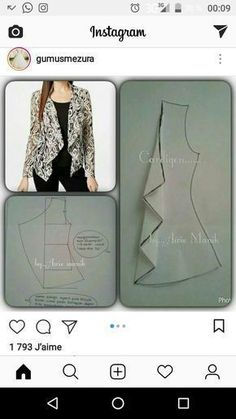 Amazing Sewing Patterns Clone Your Clothes Ideas. Enchanting Sewing Patterns Clone Your Clothes Ideas. Fashion Sewing, Diy Fashion, Ideias Fashion, Moda Fashion, Dress Sewing Patterns, Clothing Patterns, Costura Fashion, Sewing Blouses, Creation Couture