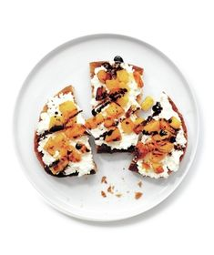 Top toasted bread with a sweet and tangy mixture of roast squash, mild ricotta, and balsamic syrup for a delicious snack or party treat. Get the recipe for Squash-and-Ricotta Toasts.