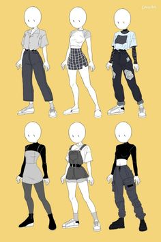 Aesthetic outfit inspiratin, look. Teen Fashion Outfits, Anime Outfits, Grunge Outfits, Girl Outfits, Cute Outfits, Super Hero Outfits, Edgy Outfits, Art Drawings Sketches Simple, Cute Drawings