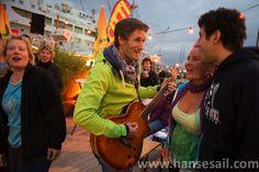 Singing along at Hanse Sail Rostock