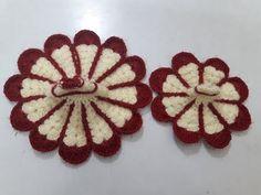 Make flower shape two colour crochet dress/poshak of bal gopal - beginner level - YouTube