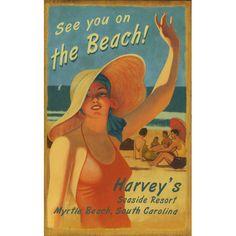 Found it at Wayfair - On the Beach Vintage Advertisement Plaque