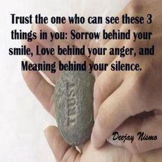 Trusting someone...