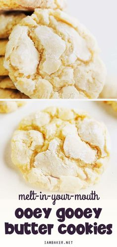 These Ooey Gooey Butter Cookies are easy to make, you'll only need a few ingredients. Enjoy this with a glass of your milk, coffee, or favorite drink. Save this quick and easy dessert recipe made from pantry staples!