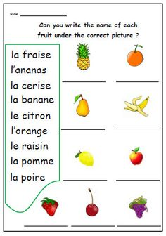 French Worksheets for Kids. 20 French Worksheets for Kids. Learning French For Kids, Ways Of Learning, French Language Learning, Learning Spanish, Kids Learning, Learning People, Spanish Class, Learning Games, Early Learning
