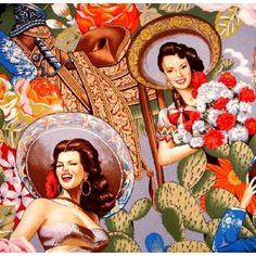 Mujers Sombrero Charro Painting | Mexican Renaissance Painting ...