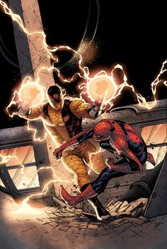 Spider-Man vs. Shocker by Spiderguile