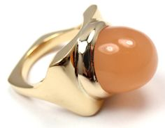 Extremely-Rare-Authentic-Cartier-Dinh-Van-18k-Yellow-Gold-Cats-Eye-Ring