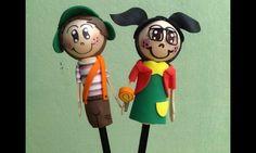 Ponteiras para lápis Chaves e Chiquinha.
