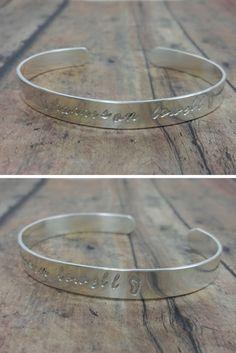 Sterling Silver Cuff / Stamped Cuff Bracelet / Personalized Name Cuff
