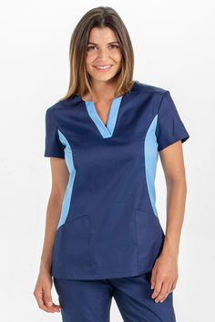 Nuevas Chaquetas Sanitarias - Uniformes Sanitarios | Dyneke Cute Nursing Scrubs, Nursing Clothes, Scrub Suit Design, Dental Uniforms, Scrubs Uniform, Iranian Women Fashion, Uniform Design, Medical Scrubs, Blouse Styles