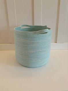 Extra Large Aqua Dyed Rope Basket