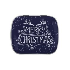 Hand Written Merry Christmas Candy Party Favor Jelly Belly Candy Tins - merry christmas diy xmas present gift idea family holidays