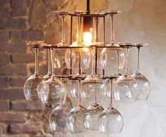 Chandelier / wine glass rack