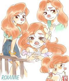 Roxanne Doodles | by Y @ Pixiv.net // a goofy movie
