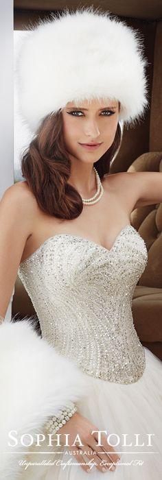 The Sophia Tolli Fall 2015 Wedding Dress Collection - Style No. Y21506 www.sophiatolli.com #weddingdresses #weddinggowns