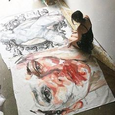 Dream to do this! Work of art so huge that you've got this💥 Painting Inspiration, Art Inspo, Art Sketches, Art Drawings, Elly Smallwood, Kunst Inspo, Arte Sketchbook, Art Anime, A Level Art