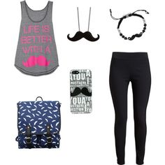 """""""Mustache overload!!!"""" by emma6320 on Polyvore"""