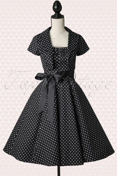 Hearts and Roses Black And White Polkadot Swing Dress 102 14 15498 20141216 0005Pop