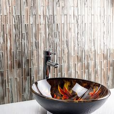 Mangata Glacial Adirondacks Planks Glass Tile