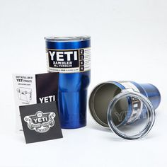 Powder Coated Yeti Cup Personalized 20oz 30oz Yeti Rambler Yeti... (Lowest only $14.99) ❤ liked on Polyvore featuring home, kitchen & dining, drinkware, drink & barware, grey, home & living, tumblers & water glasses, monogram water bottle, monogram tumbler and colored water glasses