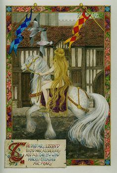 Lady Godiva by Debby Faulkner-Stevens Lady Godiva, Fairytale Fantasies, English Roses, Pretty Art, Faeries, Alice In Wonderland, Painting & Drawing, Amazing Art, The Dreamers