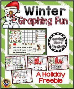 FREE! Winter Bar Graphs Fun from A Teacher in Paradise on TeachersNotebook.com - (10 pages) - A fun interactive activity to help your little ones learn and practice bar graphs.
