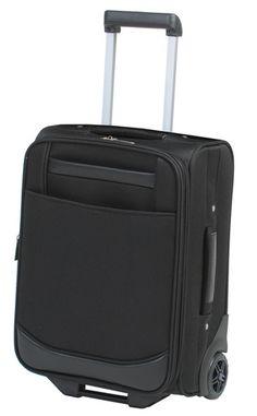 Rimelig trolly med 2 hjul. 2 utvendige glidelås lommer, materiale polyester. Passer Ryan Air (55x40x20 cm.) Art nr CO-1-83136 #trolley
