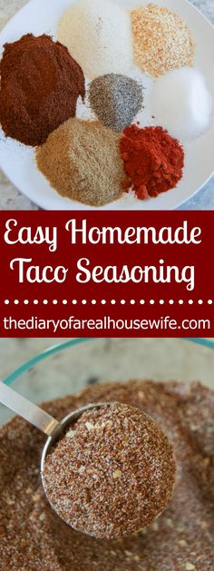 STOP! Do not keep buying store bought Taco Seasoning. Make this Easy Homemade Taco Seasoning at home and keep it in the pantry for taco nights!