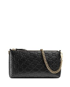 GUCCI Guccissima Wrist Wallet, Black. #gucci #bags #wallet #accessories #