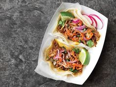 Yucatán-Style Shredded Pork Tacos with Achiote (Cochinita Pibil Tacos)- link to abundance of Mexican dishes Best Mexican Recipes, Spicy Recipes, Pork Recipes, Cooking Recipes, Ethnic Recipes, Cream Recipes, Easy Recipes, Dinner Recipes, Gourmet Cooking